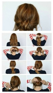 Simple and pretty bun idea.